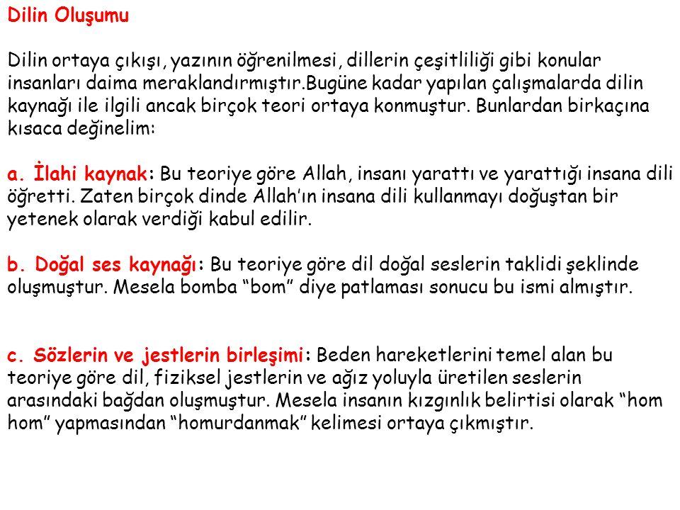 2.Hami-Sami Dilleri Ailesi: Akatça, Arapça, İbranice 3.
