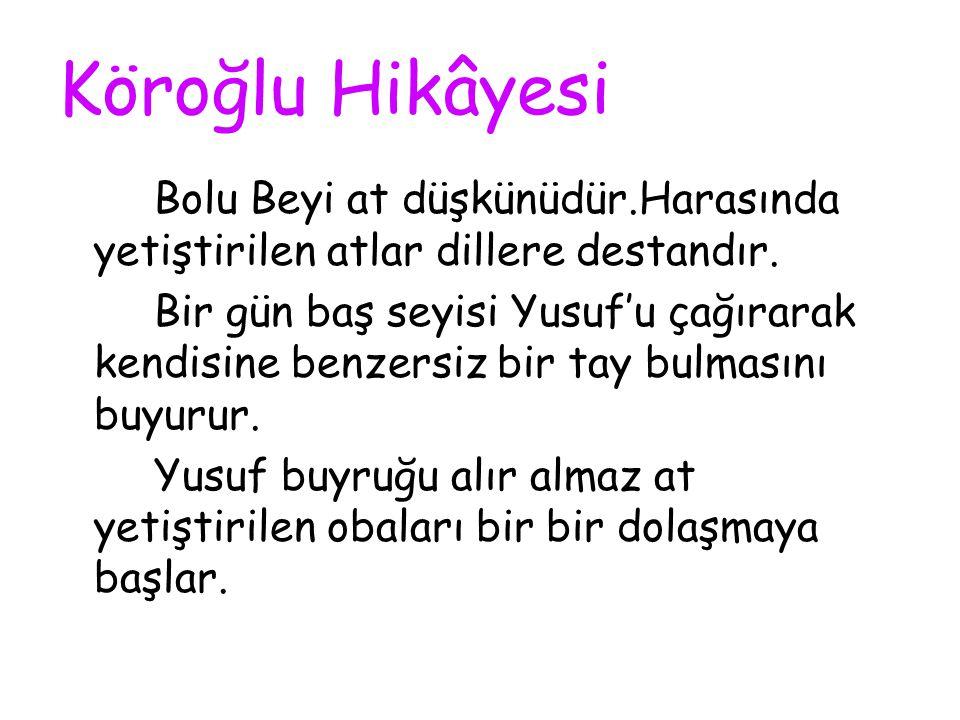 Bolu Beyi bir kez Ayvaz'ı bir kez de Köroğlu'nu zindana atmayı başarmıştır.