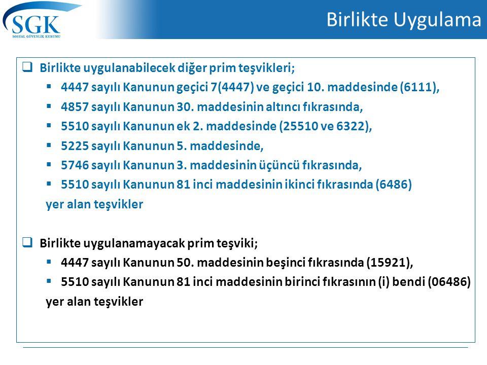 Örnek - 4447 sayılı Kanunun geçici 10 uncu maddesine göre sigortalılar yönünden aranılan şartlara sahip olan (B) sigortalısının, (A) Limited şirketine ait kırtasiye malzemeleri satışı faaliyet konulu işyerinde 20/3/2014 tarihinde işe alındığı ve bahse konu işyerinin son altı aylık döneminde, 2014/şubat ayında : 6 2014/Ocak ayında : 3 2013/Aralık ayında : 3 2013/Kasım ayında : 5 2013/Ekim ayında : 5 2013/Eylül ayında : 6 sigortalı çalıştırılmış olduğu varsayıldığında, Baz alınan aylardaki toplam sigortalı sayısı: 6 + 3 + 3 + 5 + 5 + 6 = 28 Ortalama sigortalı sayısı: 28 / 6 = 4,6 = 5 olacaktır.