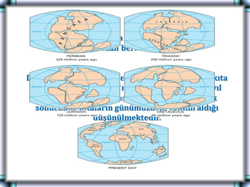 Bu kurama göre levha hareketleri yer kürenin oluşumundan beri sürmektedir. Dünyanın ilk oluşum sürecinde sahip olduğu tek kıta olan süper kıta Pangea'