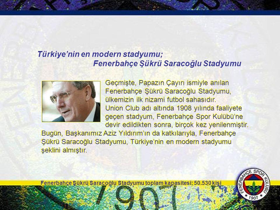 Geçmişte, Papazın Çayırı ismiyle anılan Fenerbahçe Şükrü Saracoğlu Stadyumu, ülkemizin ilk nizami futbol sahasıdır. Union Club adı altında 1908 yılınd