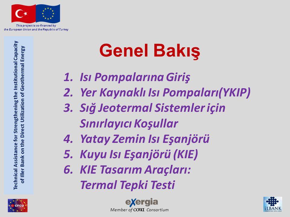 Member of Consortium This project is co-financed by the European Union and the Republic of Turkey 7.KIE'nin Isı Pompası ile Bağlantısı 8.Avrupa YKIP pazarı – Maliyet unsurları 9.Destekleyici Önlemler- Hukuki Yönler 10.Yüksek Verimli Su Kaynaklı Isı Pompaları 11.Güney Avrupa (ve başka yerler) Ilık Sıcaklık Sistemleri Alternatifleri