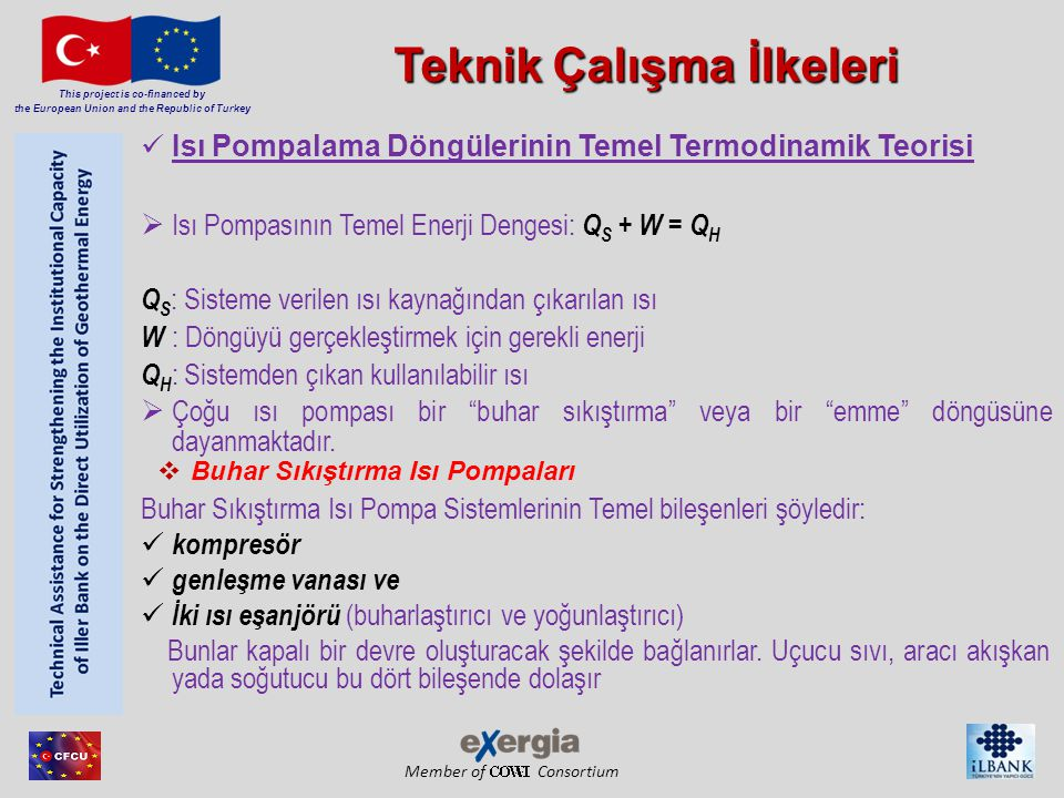 Member of Consortium This project is co-financed by the European Union and the Republic of Turkey Yer Kaynaklı Isı Pompaları (YKIP) Section 2