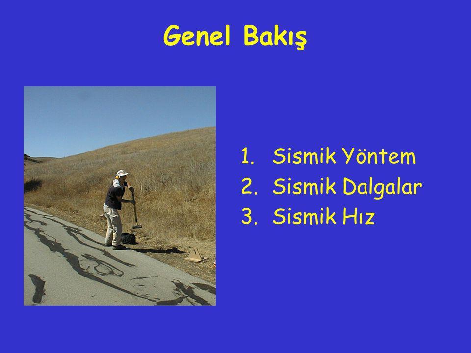 Genel Bakış 1.Sismik Yöntem 2.Sismik Dalgalar 3.Sismik Hız