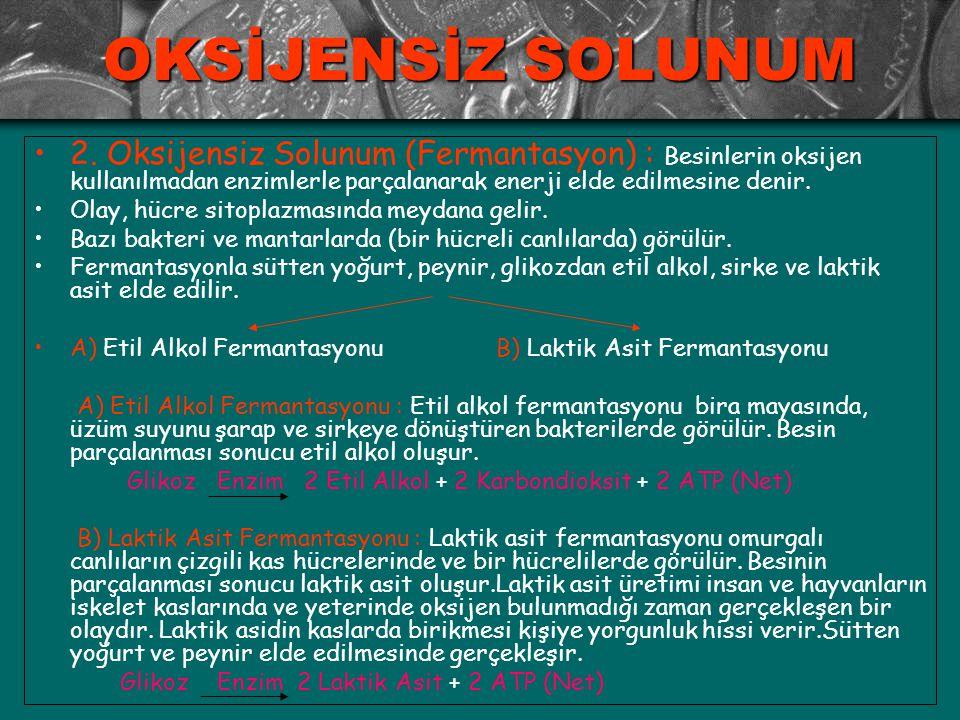 OKSİJENSİZ SOLUNUM 2.