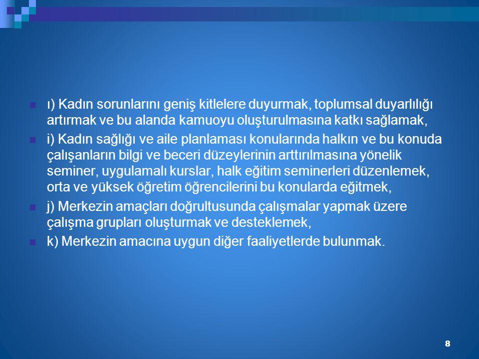FAALİYETLERİMİZ 9