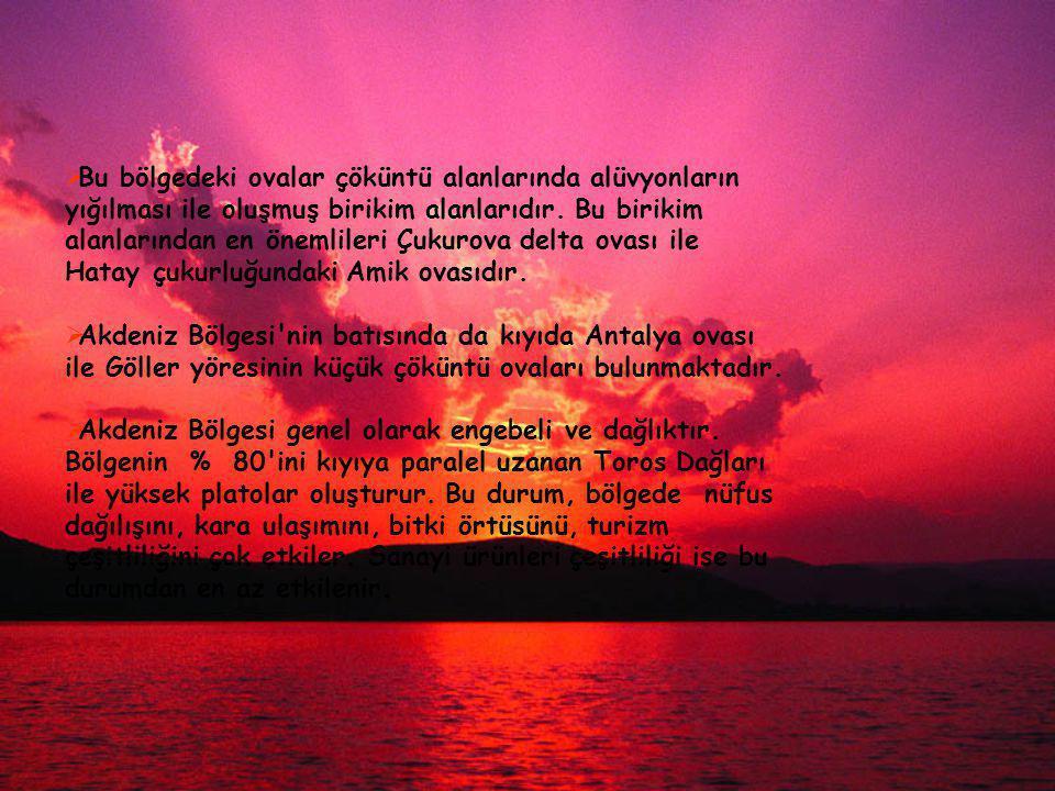  Antalya Bölümü, bölge nüfusunun %30 nu oluşturur.