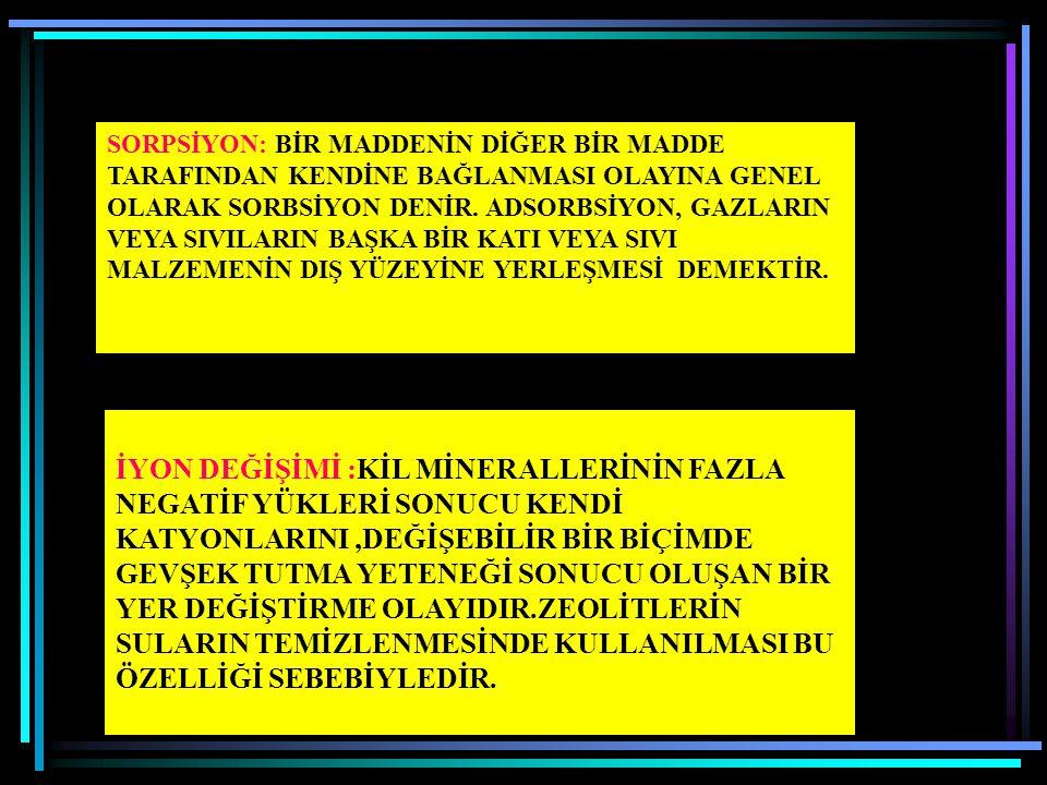 A) KAMUFLAJ: YER DEĞİŞTİREN ANA VE İZ ELEMENTLER AYNI İYON YARIÇAP VE VALENS DEĞERİNDEDİRLER (ÇİZELGE 3.4). B) YAKALAMA (CAPTURİNG): YER DEĞİŞTİREN AN
