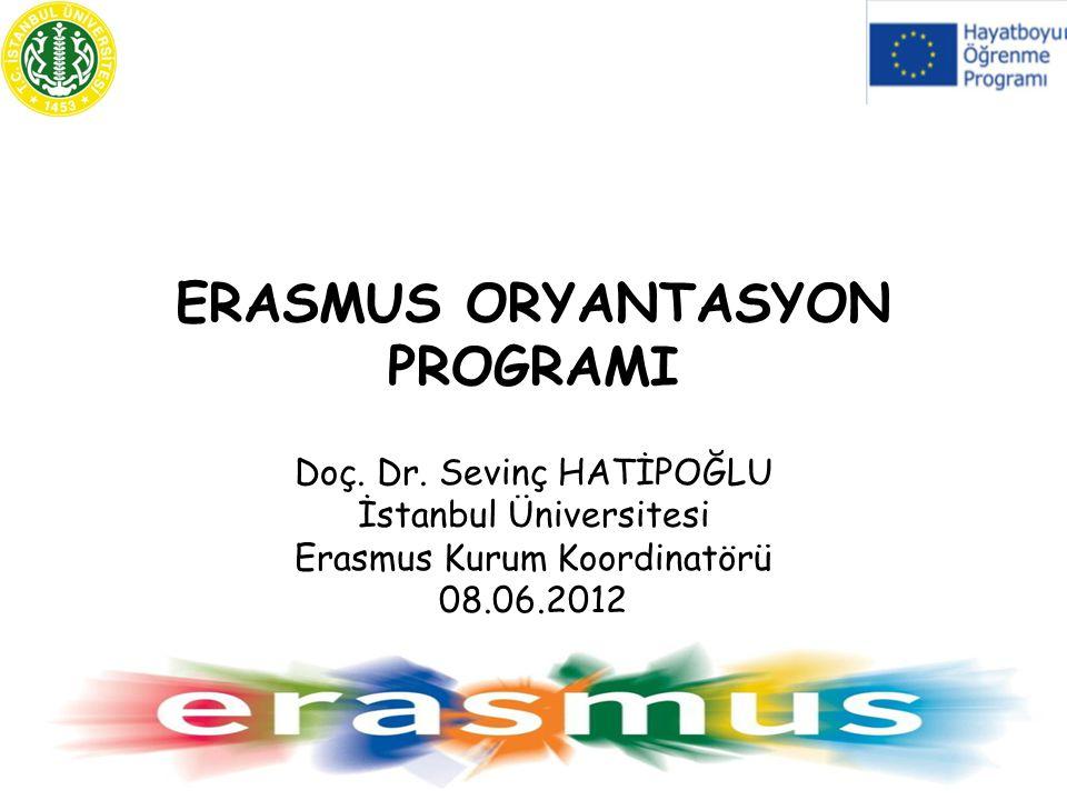 ERASMUS ORYANTASYON PROGRAMI Doç.Dr.