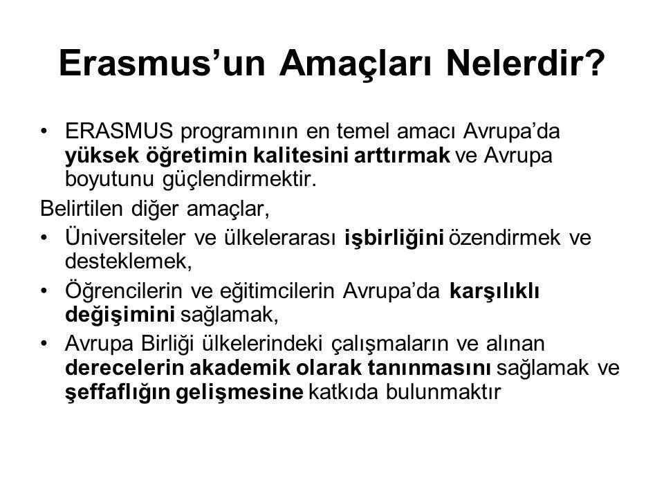 Niçin Erasmus.