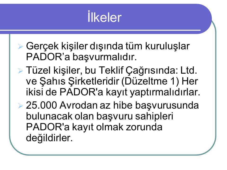 PADOR'a Kayıt Nasıl Yapılır  İlk önce kullanıcı adı ve şifrenizin olması gereklidir  Bu bilgileri PADOR web sitesinden alabilirsiniz: http://ec.europa.eu/europeaid/work/onlines ervices/pador/index_en.htm
