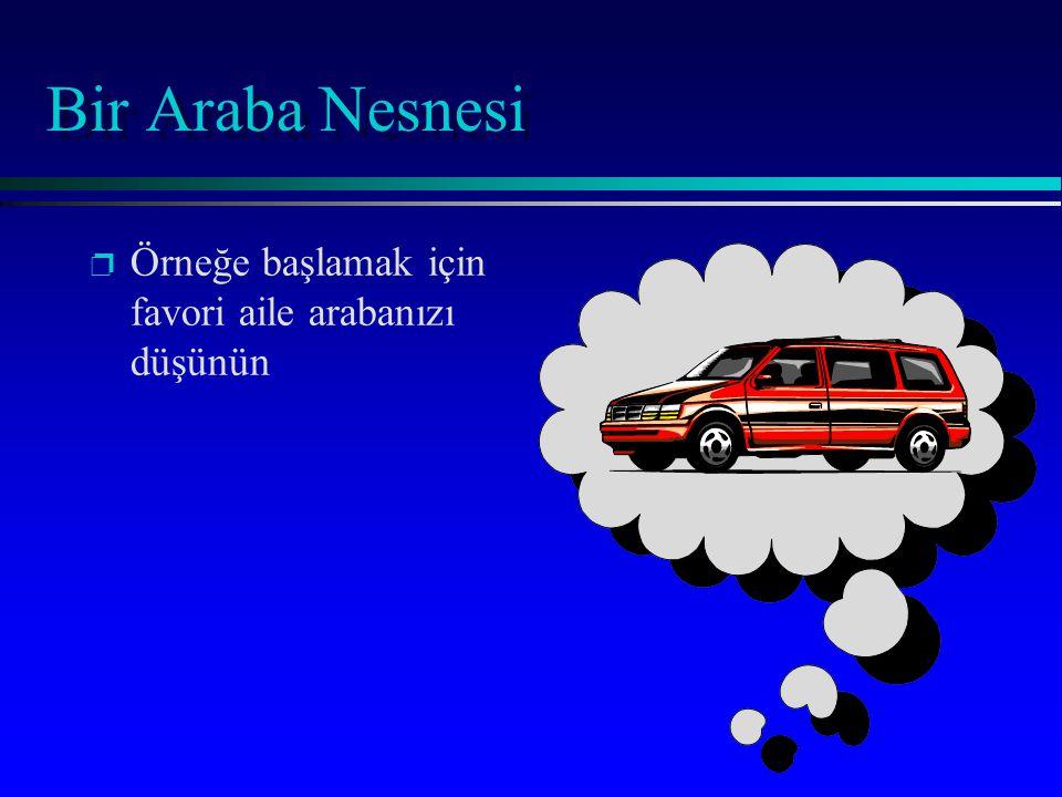 Bir Araba Nesnesi p p Örneğe başlamak için favori aile arabanızı düşünün