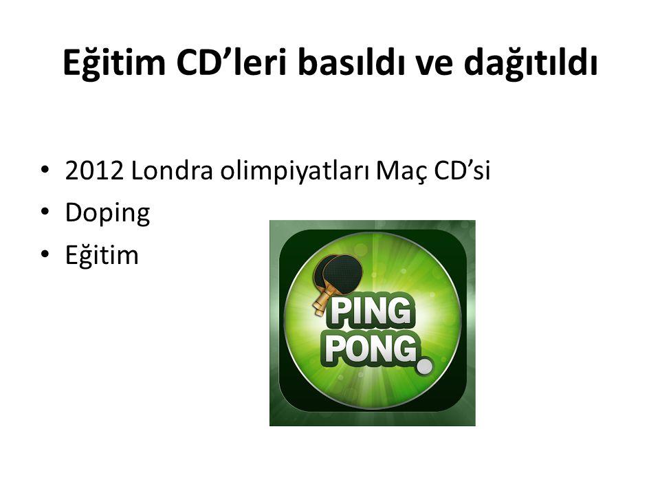 Eğitim CD'leri basıldı ve dağıtıldı 2012 Londra olimpiyatları Maç CD'si Doping Eğitim