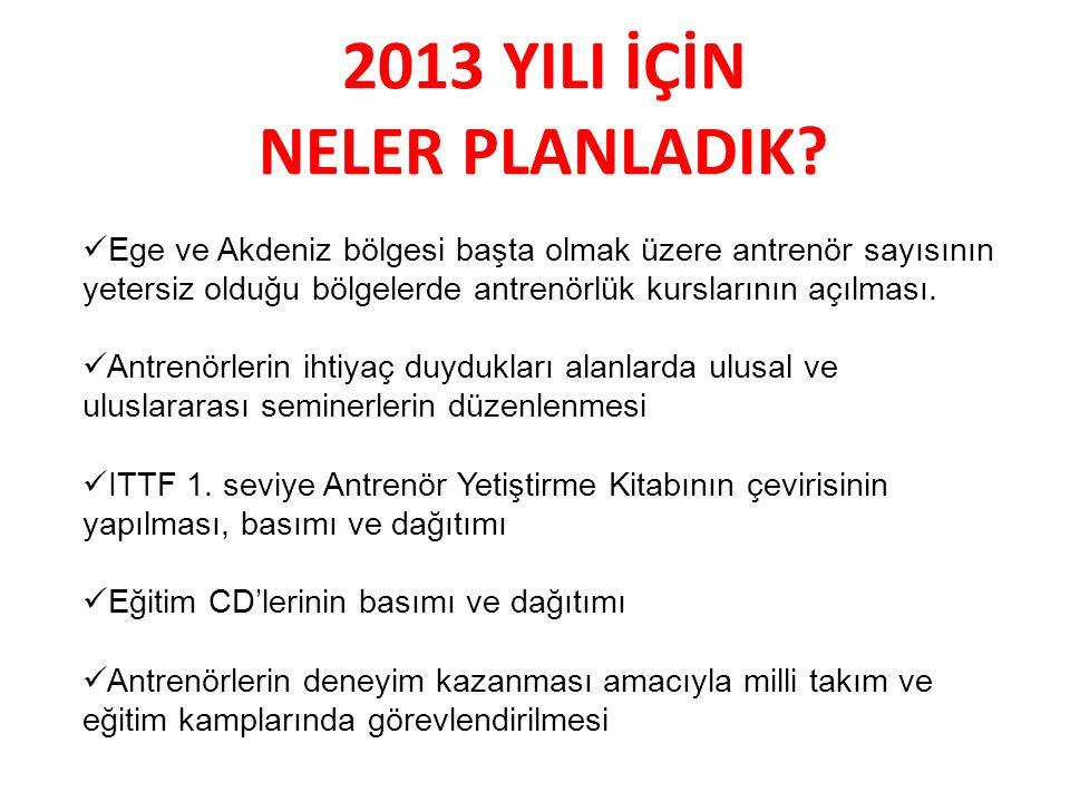 2013 YILI İÇİN NELER PLANLADIK.