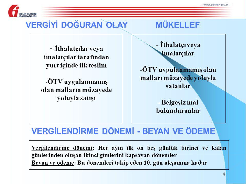 10/10/2012 tarihinde ÖTV'si ödenerek satın alınan 1.000 kg baz yağın tamamı 15/12/2012 tarihinde yağlama müstahzarı isimli mallardan birinin imalatında kullanılarak, imal edilen bu malın yarısı 25/1/2013 tarihinde, kalan yarısı ise 2/2/2013 tarihinde ihraç edilmiştir.