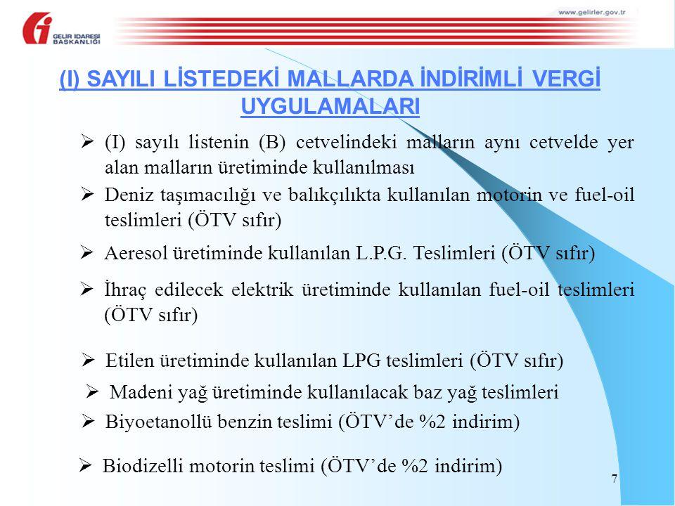 10/10/2012 tarihinde ÖTV'si ödenerek satın alınan 1.000 kg baz yağın 500 kg'si aynı yıl Kasım ayı, kalan 500 kg'si ise aynı yıl Aralık ayı içerisinde imalatta kullanılmıştır.
