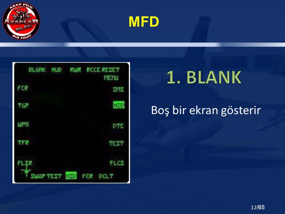 MFD 12 /65 Boş bir ekran gösterir