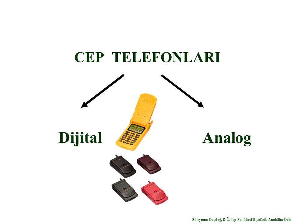 CEP TELEFONLARI Dijital Analog Süleyman Daşdağ, D.Ü. Tıp Fakültesi Biyofizik Anabilim Dalı