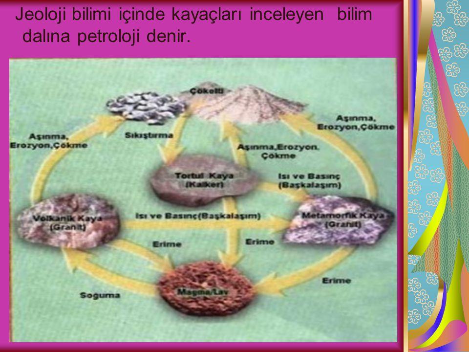 Yer kabuğunda bulunan kayaçlar üç çeşittir.Bunlar; Magmatik Kayaçlar (Püskürük ) Tortul Kayaçlar Metamorfik Kayaçlarıdır(Başkalaşım)