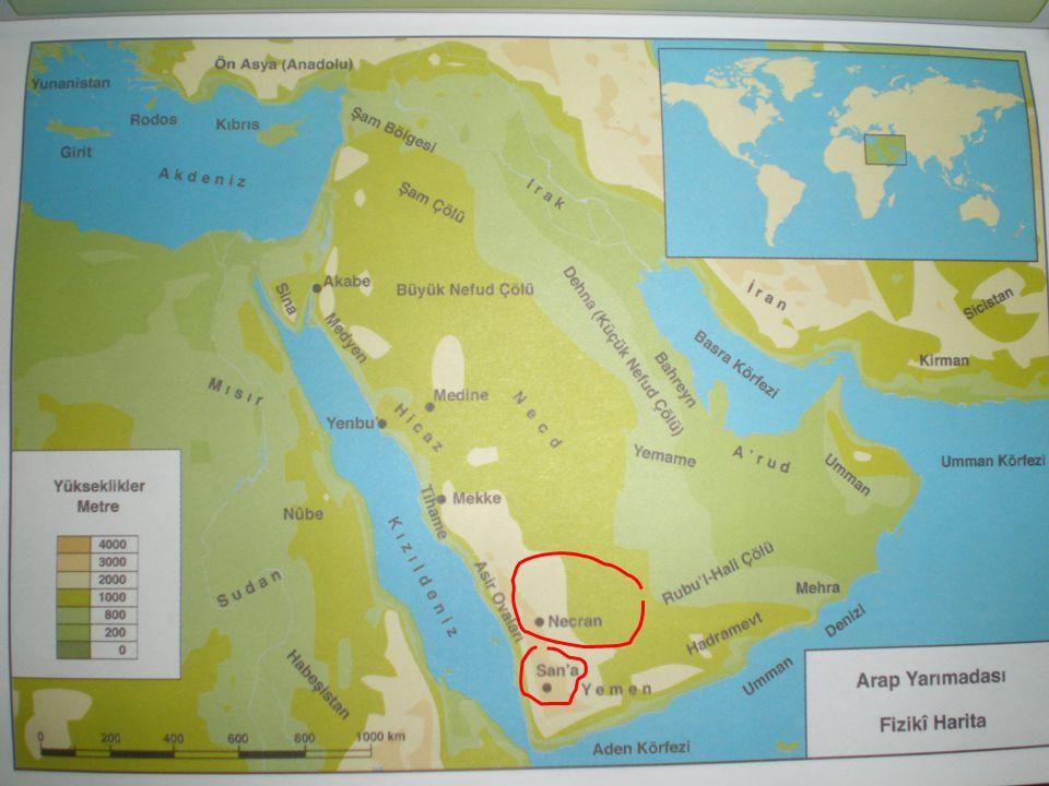 1.2 COĞRAFİ ORTAM – Arap Yarımadası - ÇÖLLER