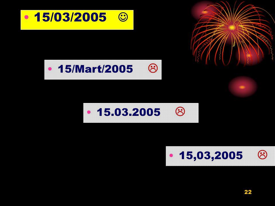 21 Tarih : Yetkili amir tarafından imzalanarak ilgili birimden sayı verildiği zamanı gösterir. Tarih bölümü, rakamla, kısaltma yapılmaksızın gün, ay v