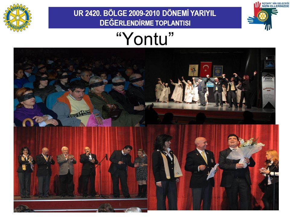 """UR 2420. BÖLGE 2009-2010 DÖNEMİ YARIYIL DEĞE RLENDİRME TOPLANTISI """"Yontu"""" MS"""