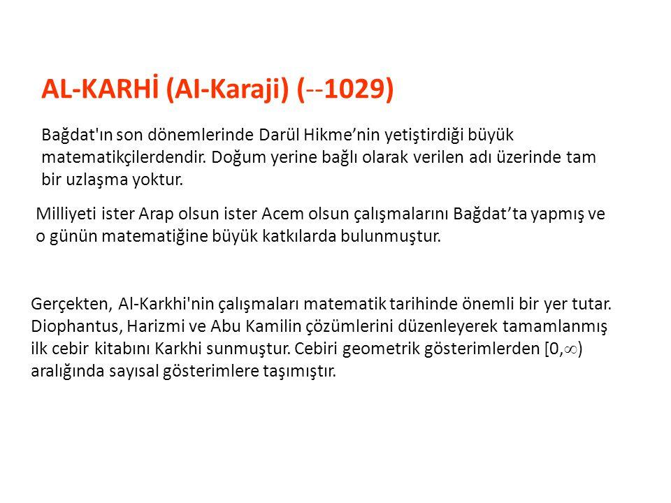 Al-Karhi, m ve n doğal sayı olmak üzere x n x m = x m+n olduğunu genellemesine rağmen x 0 = 1 sonucunu göremedi.