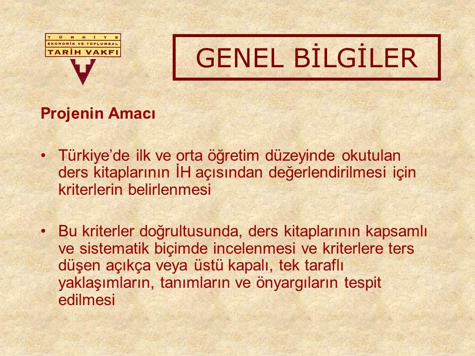 Ders alanlarının toplandığı 8 bölüm üzerine olacaktır: 1.Matematik ve Fen Grubu, 2.Vatandaşlık ve İnsan Hakları, 3.Tarih, Coğrafya ve Sosyal Bilgiler 4.Milli Güvenlik Dersi 5.Felsefe Grubu (Psikoloji, Felsefe, Sosyoloji) 6.Din Kültürü ve Ahlak Bilgisi 7.Türk Dili ve Edebiyatı 8.Diğer Proje Uygulama Adımları