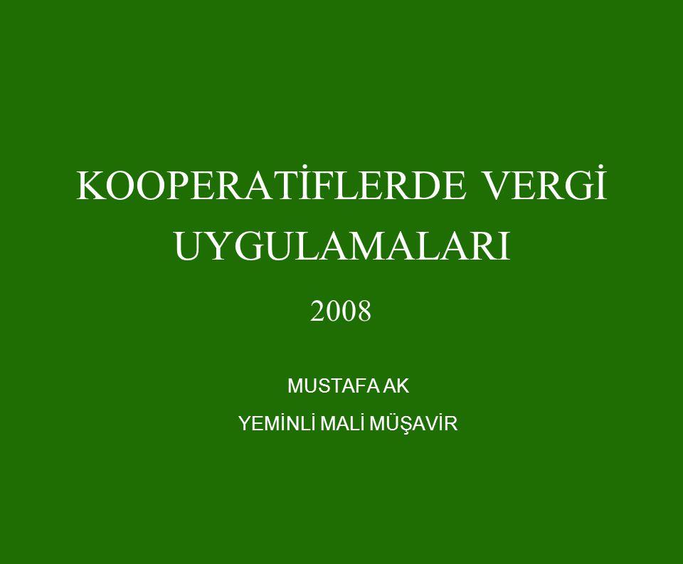 YAPI KOOPERATİFLERİNDE KV MUAFİYETİNİN ÖZEL ŞARTLARI 2006 yılının sonuna kadar KVK'nun 4 üncü maddesinin birinci fıkrasının (k) bendinde yazılı şartları sağlayamayan yapı kooperatiflerinin muafiyeti, 1/1/2006 tarihi itibarıyla sona ermiş sayılacaktır.