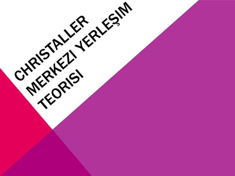 CHRISTALLER MERKEZI YERLEŞIM TEORISI