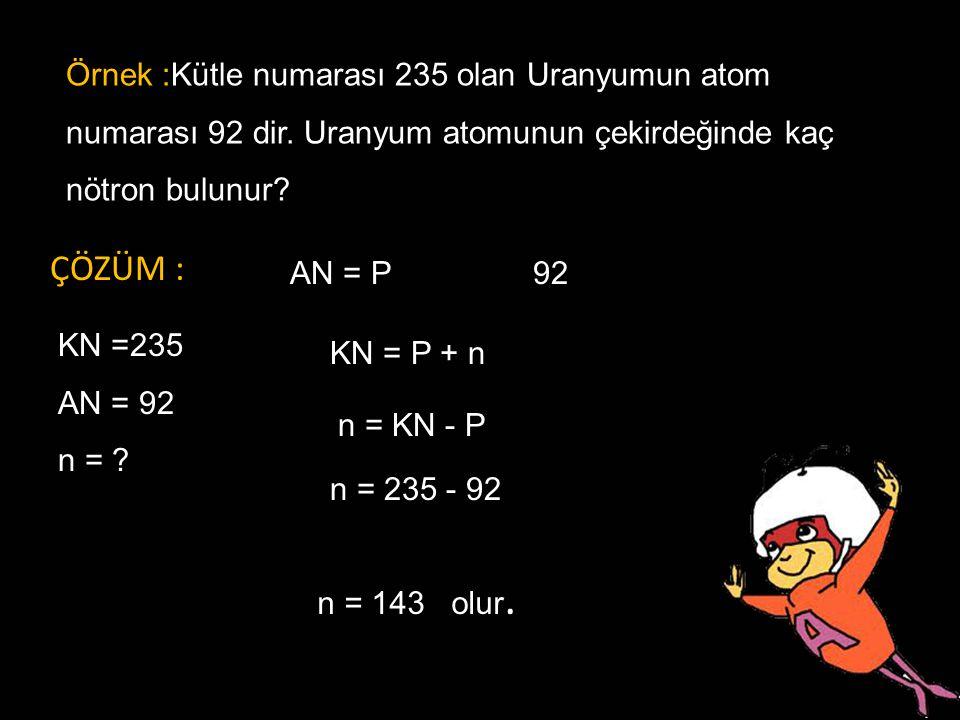 MADDENİN YAPI TAŞLARI MADDE : Uzayda yer kaplayan kütlesi,hacmi ve eylemsizliği olan her şeye denir. Örnek :Kütle numarası 235 olan Uranyumun atom num