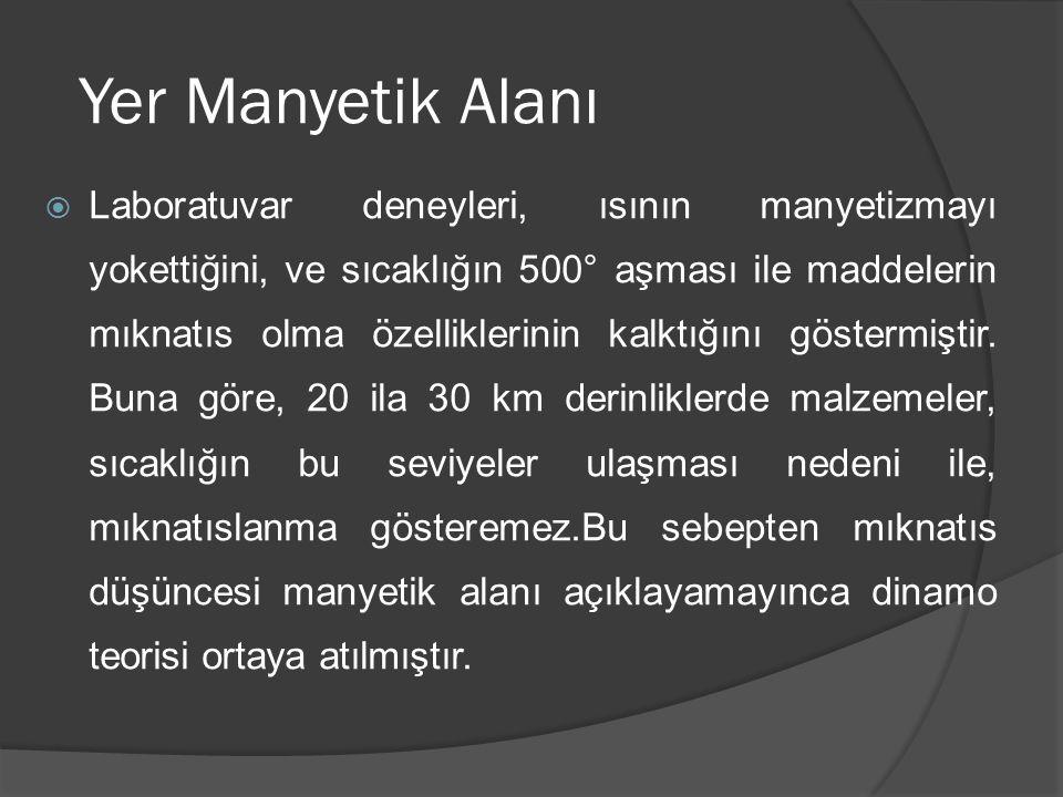 Dinamo Teorisi  Dinamo teorisi ilk defa 1920 de Larmor tarafından güneşin manyetik alanı ile ilgili özelliklerini açıklamak amacı ile önerilmiştir.