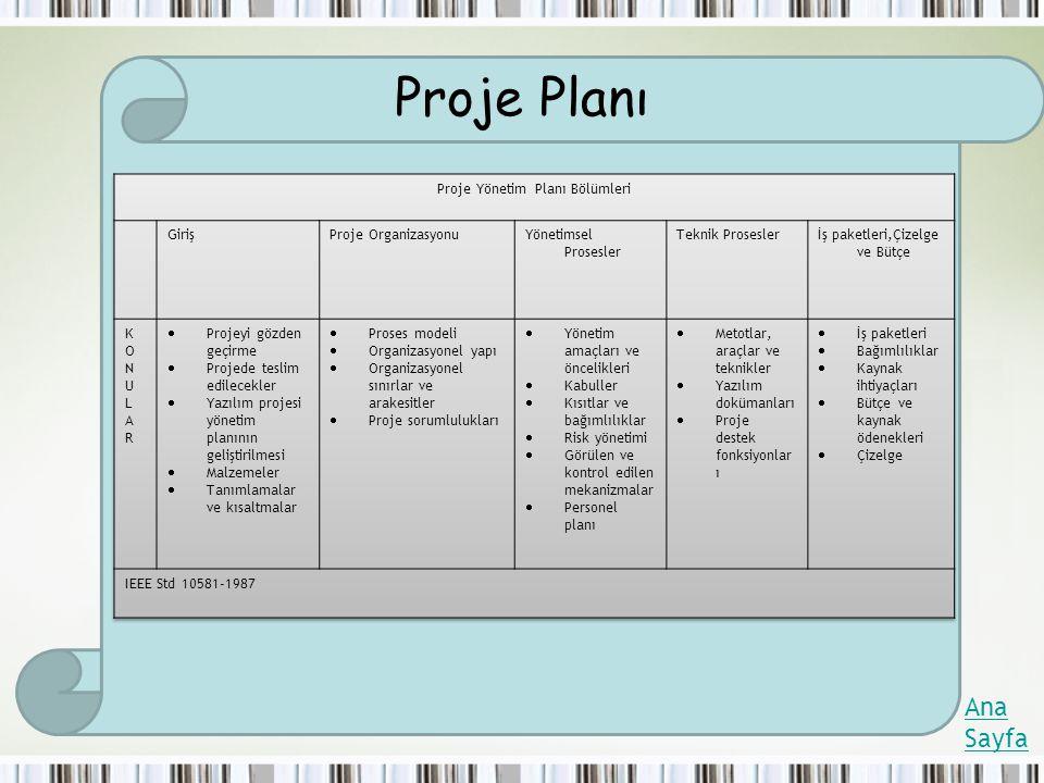 Proje Planı Ana Sayfa