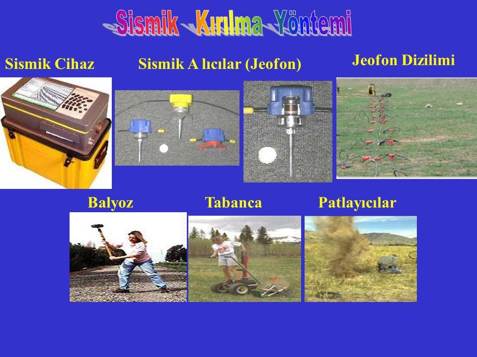 Sismik CihazSismik A lıcılar (Jeofon) Jeofon Dizilimi Balyoz Tabanca Patlayıcılar