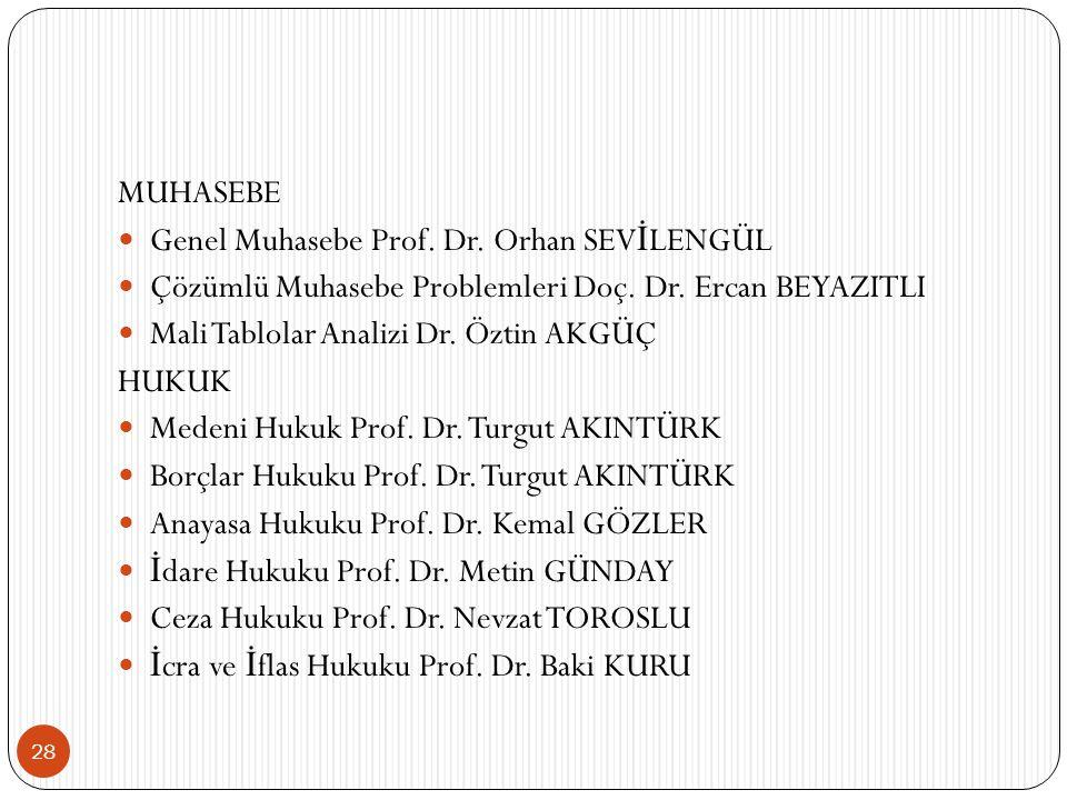 28 MUHASEBE Genel Muhasebe Prof.Dr. Orhan SEV İ LENGÜL Çözümlü Muhasebe Problemleri Doç.