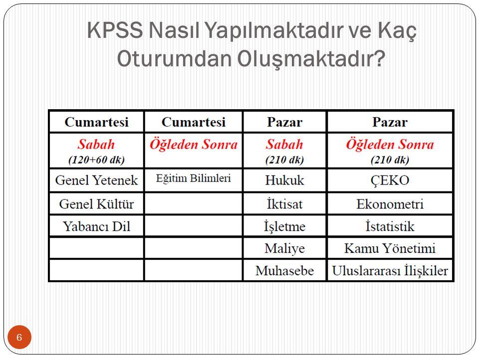 KPSS'de Uygulanacak Testlerin Kapsamları Nedir? 7