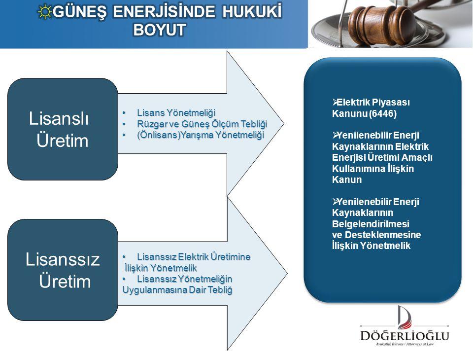  Elektrik Piyasası Kanunu (6446)  Yenilenebilir Enerji Kaynaklarının Elektrik Enerjisi Üretimi Amaçlı Kullanımına İlişkin Kanun  Yenilenebilir Ener
