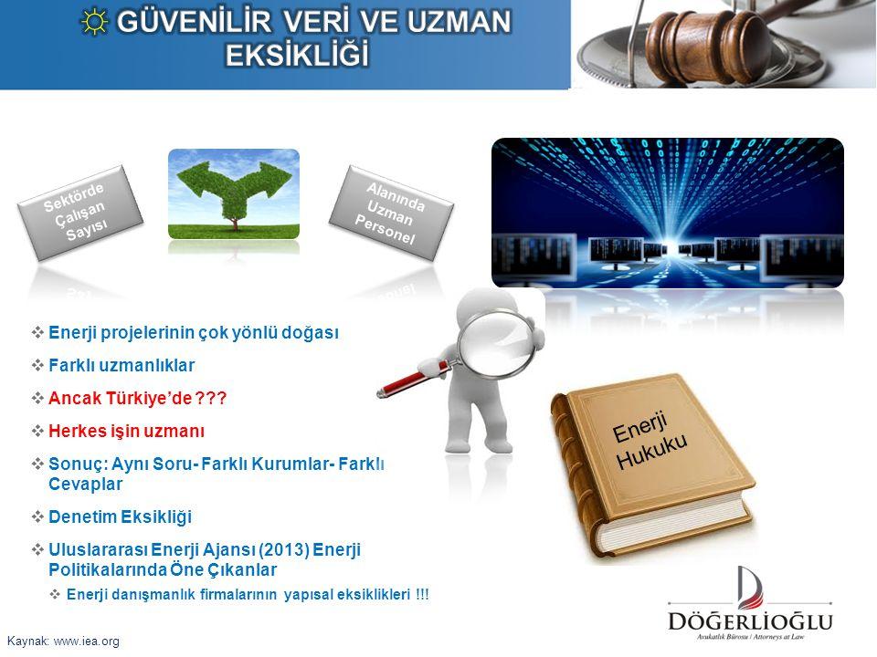  Enerji projelerinin çok yönlü doğası  Farklı uzmanlıklar  Ancak Türkiye'de ???  Herkes işin uzmanı  Sonuç: Aynı Soru- Farklı Kurumlar- Farklı Ce