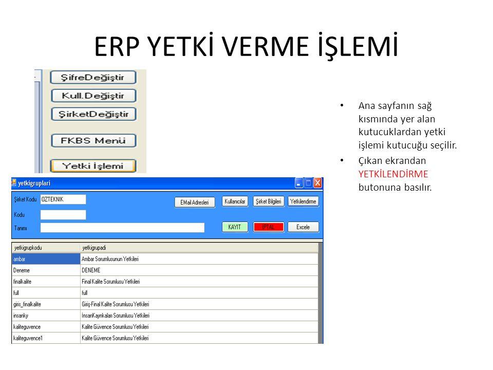 ENVANTER ** Envanter girişleri puantaj/envanter seçilerek firma adı yazılır ve tamam_std tuşuna basılarak envanter listelenir.