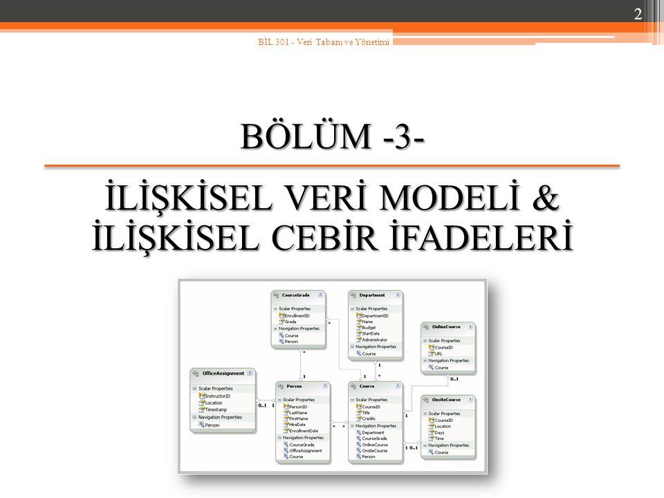3.3.İlişkisel Model Örneği (devam…) Tablolar arasında çeşitli ilişkiler bulunmaktadır.