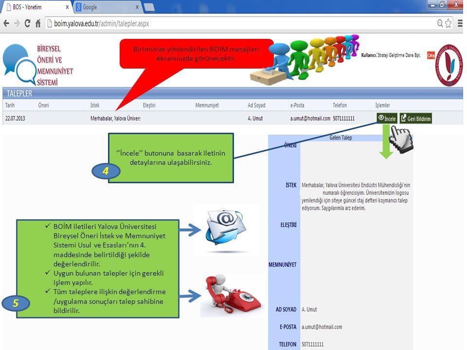 Yapılan uygulama sonucunu SGDB' na iletmek için ''Geri Bildirim'' butonuna tıklayınız. 6