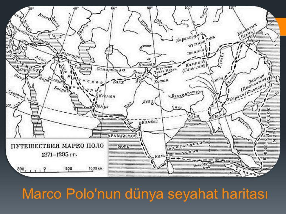 Marco Polo'nun dünya seyahat haritası