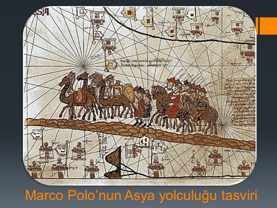 Marco Polo'nun Asya yolculuğu tasviri