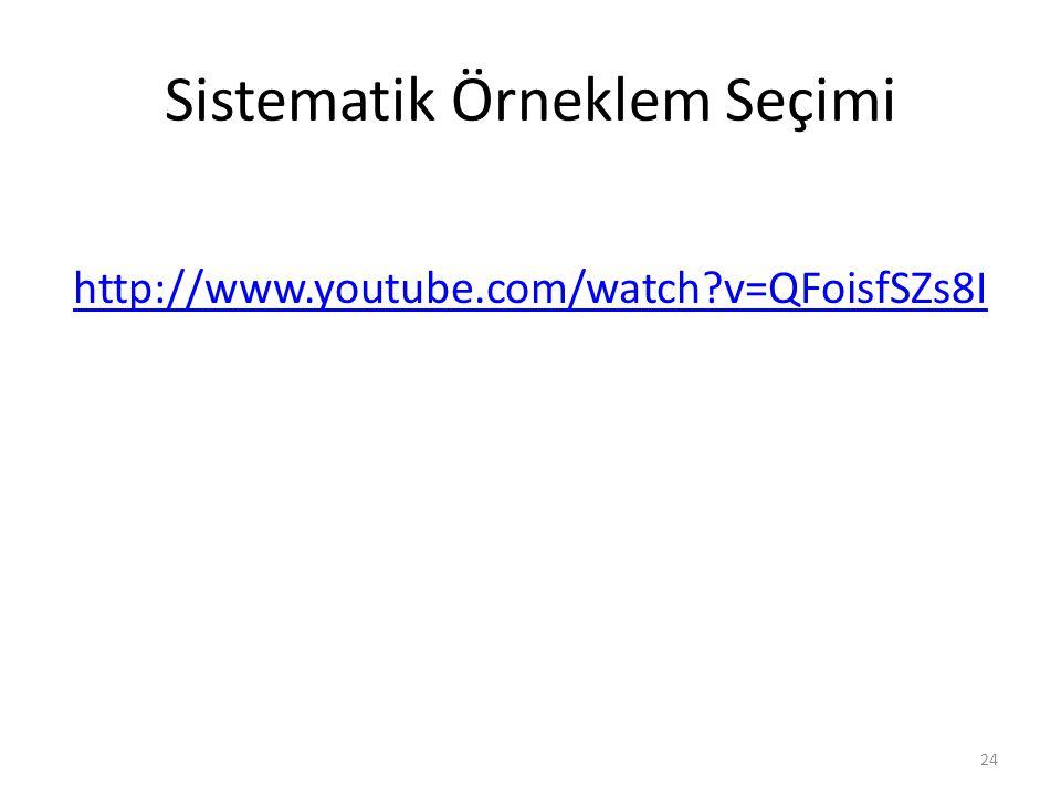 Sistematik Örneklem Seçimi http://www.youtube.com/watch?v=QFoisfSZs8I 24