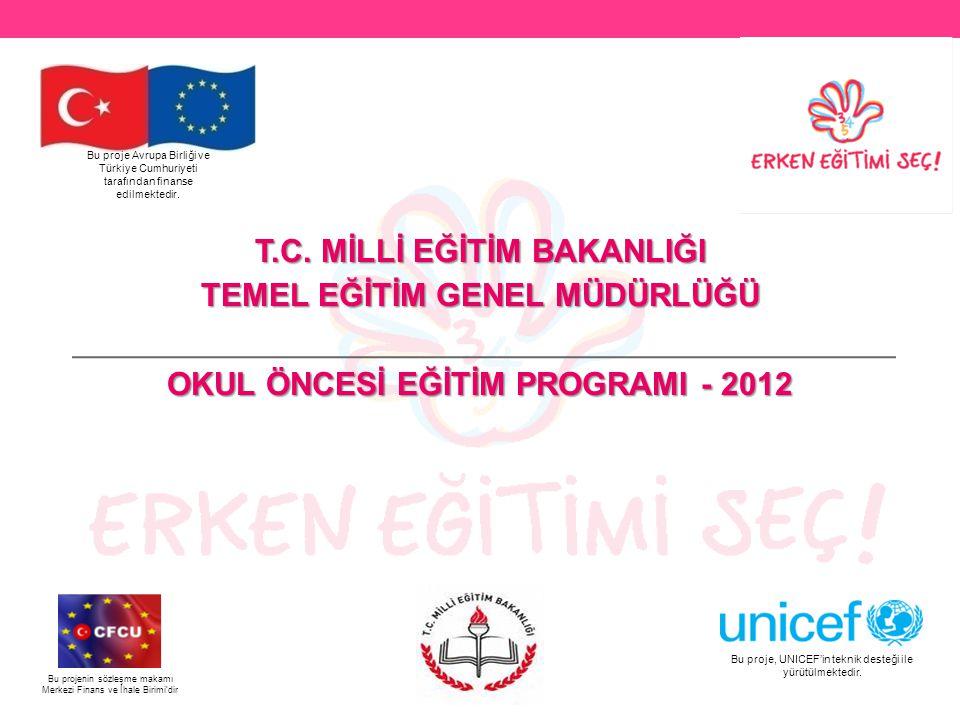 OKUL ÖNCESİ EĞİTİMİNİN GÜÇLENDİRİLMESİ PROJESİ  Milli Eğitim Bakanlığı tarafından uygulamaya konulan, Avrupa Birliği tarafından finanse edilen ve UNICEF'in teknik destek sağladığı TR0801.06 Okul Öncesi Eğitiminin Güçlendirilmesi Projesi Temel Eğitim Genel Müdürlüğü'nün sorumluluğunda yürütülmektedir.
