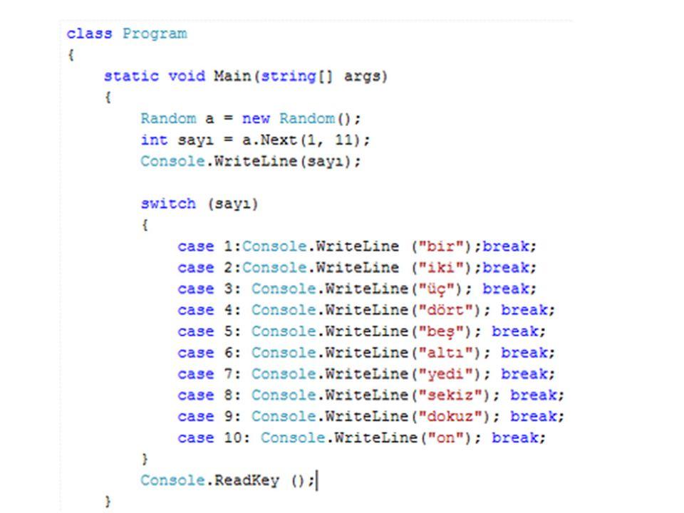 Mantıksal Değişken Türü Boolean Değişken Türü:Bellekte 2 byte'lık yer kaplar.