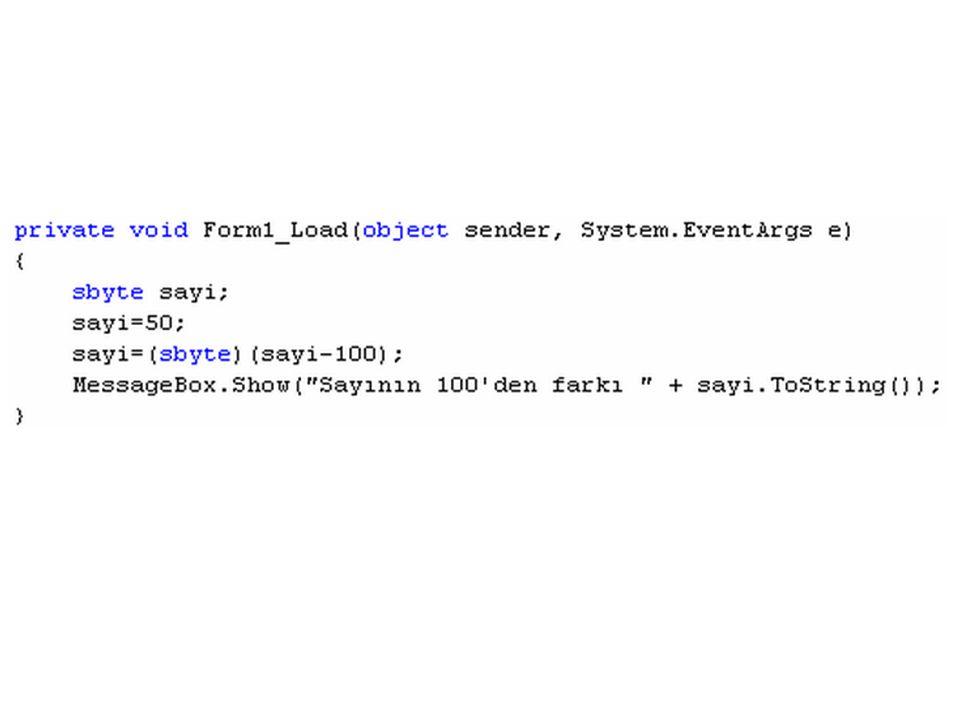 ÖRNEK Butona tıklandığında, metin kutusundan girilen string bilginin karakter uzunluğunu,tüm karakterlerinin büyük harfe ve küçük harfe çevrilmiş halini ayrı ayrı metin kutularına yazan program: