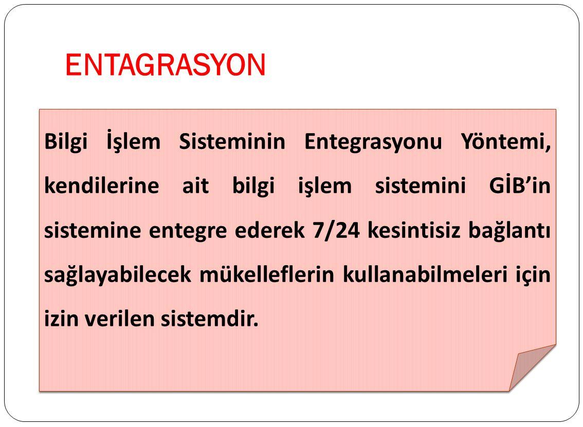 ENTEGRASYON İZİN ALAN FİRMALAR 1.İdea Teknoloji Çözümleri Bilgisayar San. ve Ticaret Limited Şirketi - İstanbul 2.D.T.P. Bilgi İşlem İletişim ve Ticar