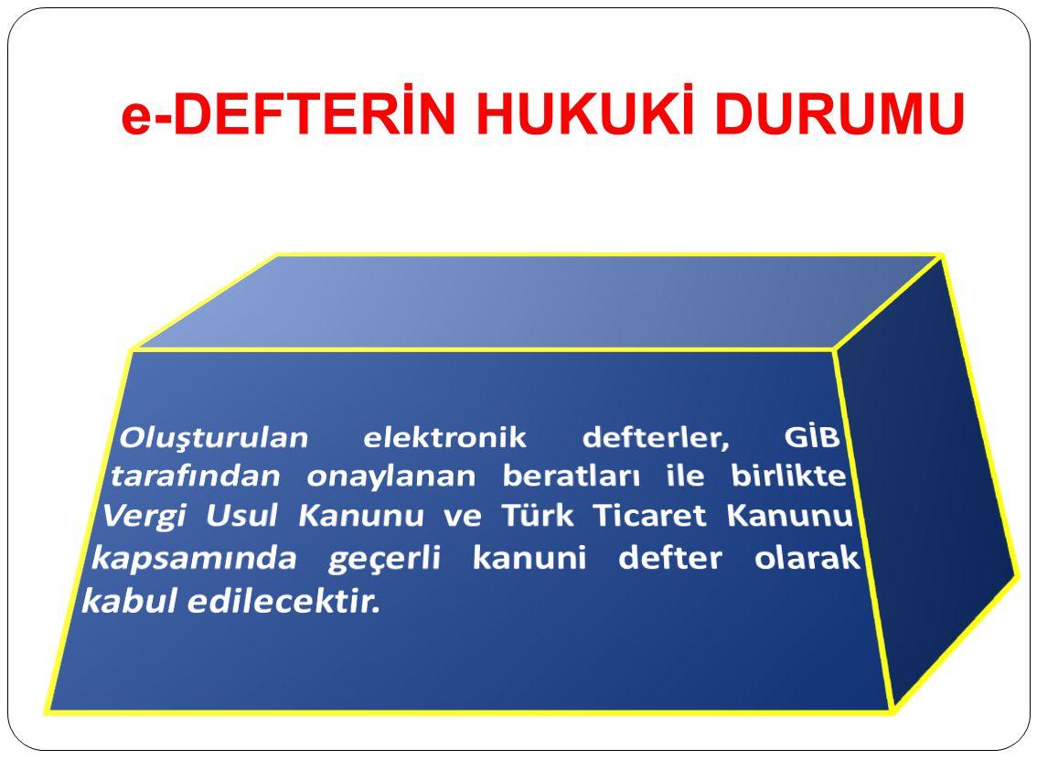 e-DEFTER NASIL TUTULACAKTIR 4- Gerçek kişiler elektronik defterlerini, ilgili olduğu ayı takip eden ayın son gününe kadar (Aralık ayına ilişkin defter