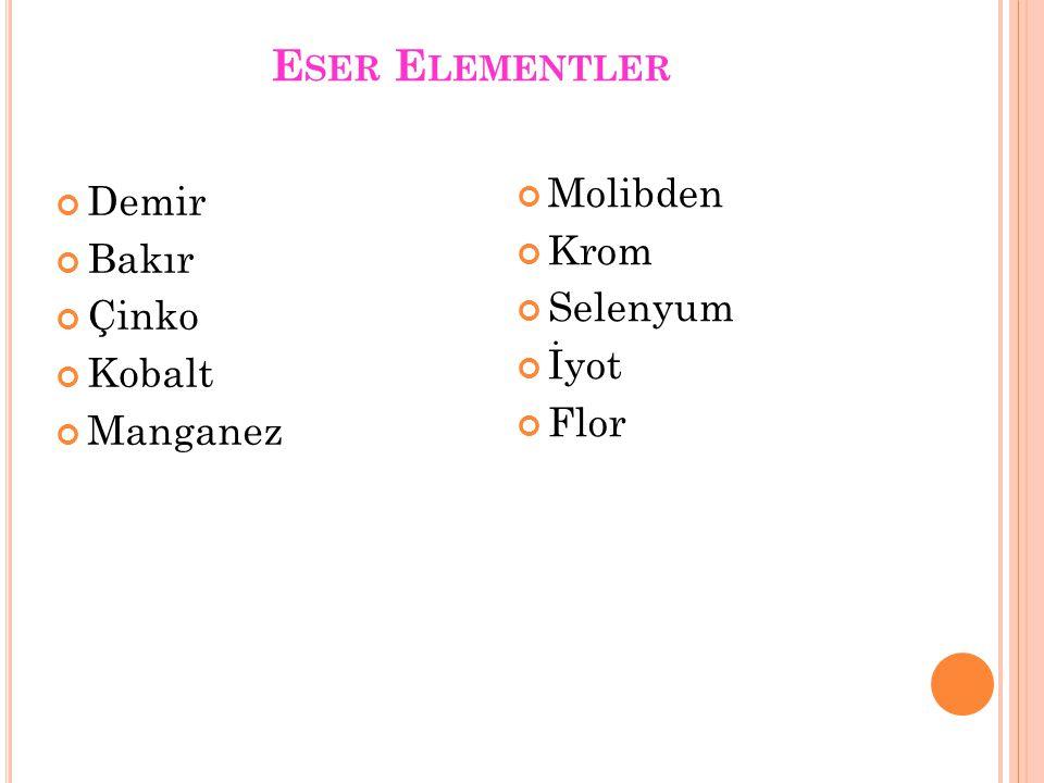 D EMIR (Fe) Demir yer kabuğunda en bol bulunan elementlerden birisidir 70 kg'lık bir insanda ortalama 4-5 gr demir bulunur